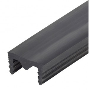 Wkładka do listwy dylatacyjnej PCV szer. 20mm, gr. 0mm, czarna gładka i karbowana