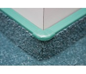Narożnik zewnętrzny do listwy dywanowej ożebrowanej