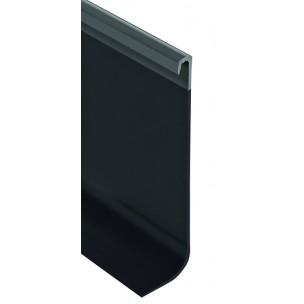 Listwa wyobleniowa przypodłogowa z daszkiem z twardego PCV- - 2.5M, 100x3mm