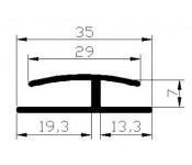 Listwa progowa (29x7) 2.5mb x 20szt